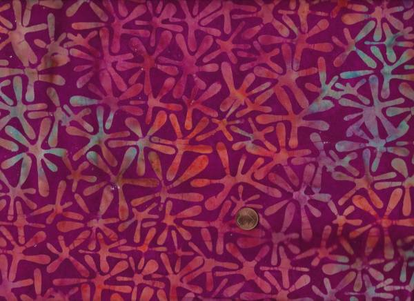 Batik Sterne beere-orange