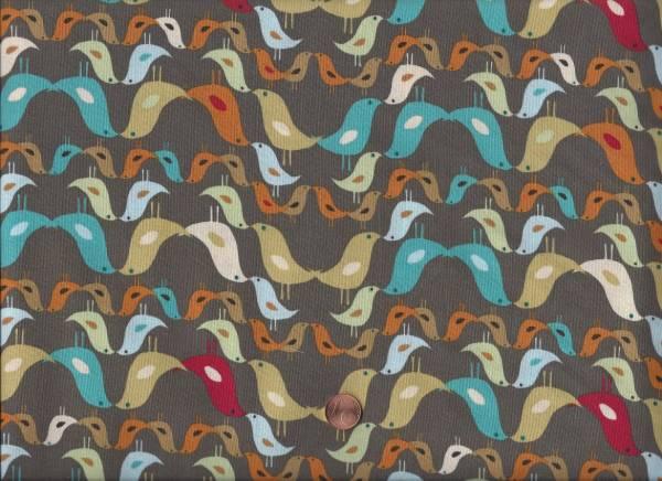 Urban Nature Birds taupe-bunt