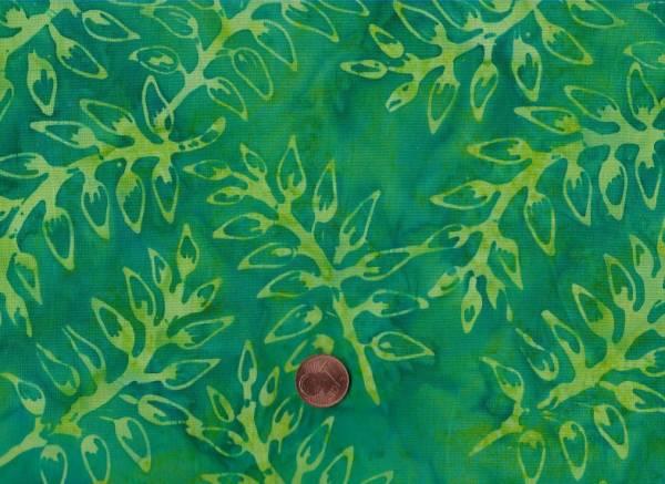 Batik Zweige grün