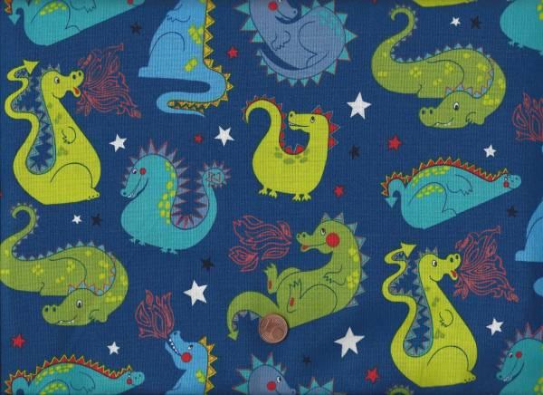 Alexander Henry Baby Dragon blau-grün