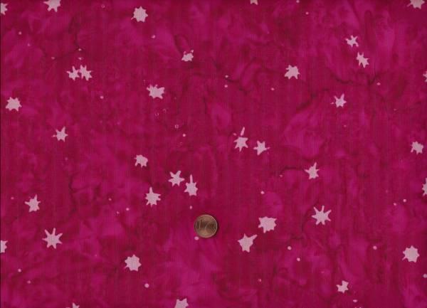 Batik Horizon Sterne rot