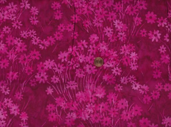 Batik Daisys magnta-pink