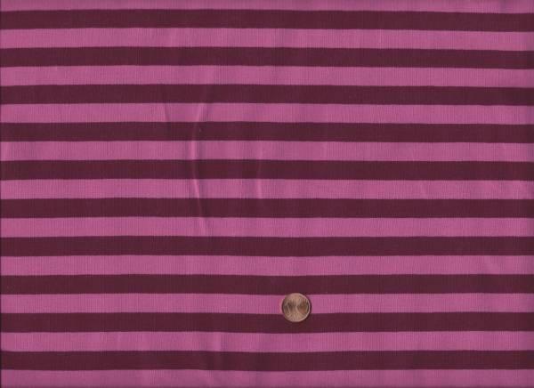 Jersey Streifen w.rot-pink