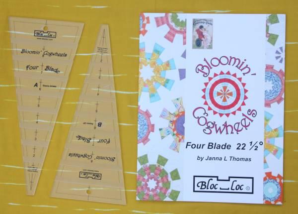 Bloc-Loc Book and Ruler 'Bloomin Cogwheels'