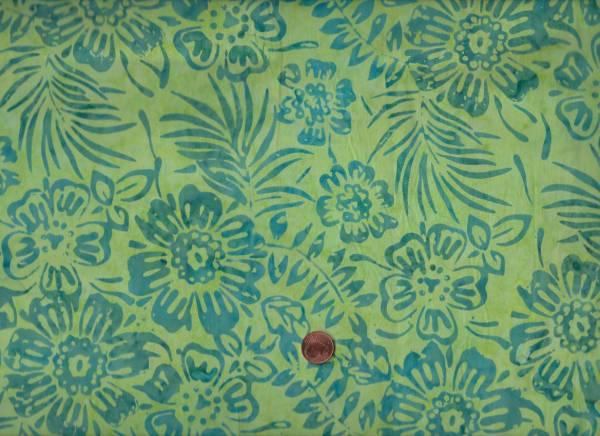 Batik Floral grün-türkis