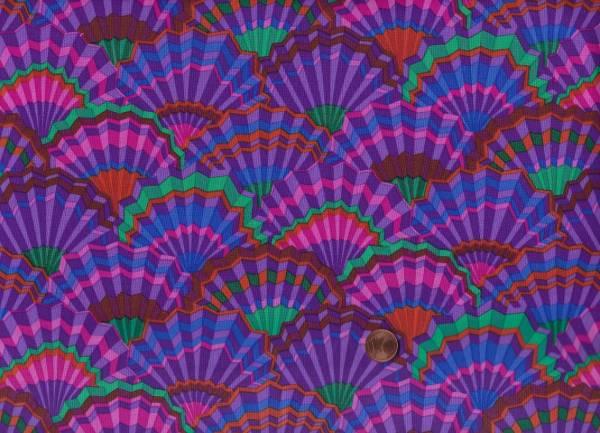 K. Fassett Paper Fans gp143 purple