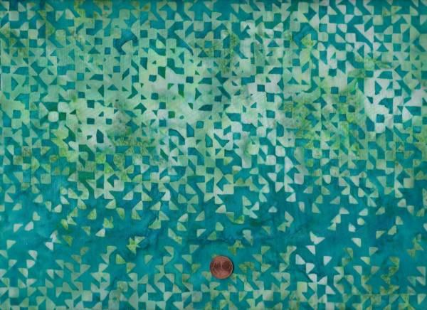 Batik Mosaik petrol-grün