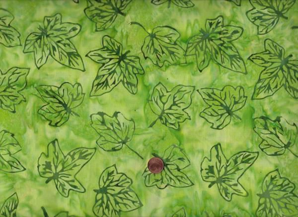 Batik Blätter h.grün