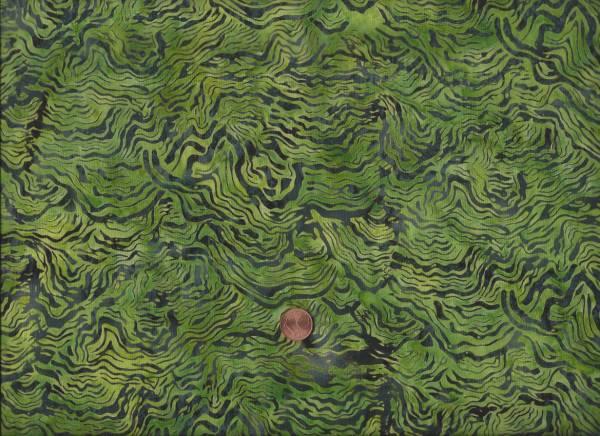 Batik grün Höhenlinien