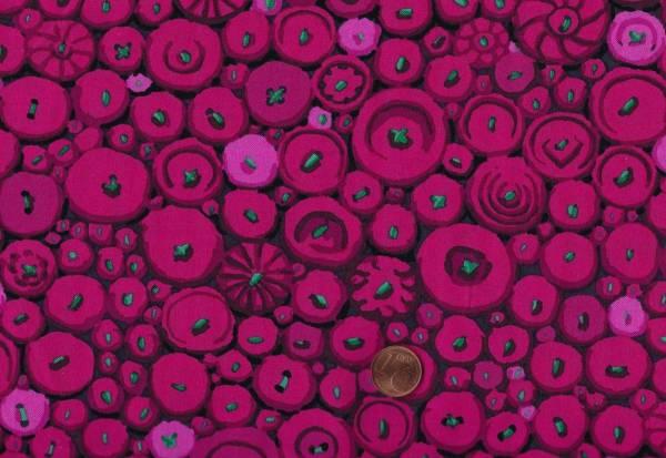 K. Fassett Button Mosaik gp182 red
