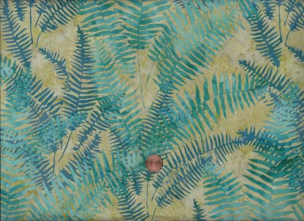 Batik Farn grün-türkis
