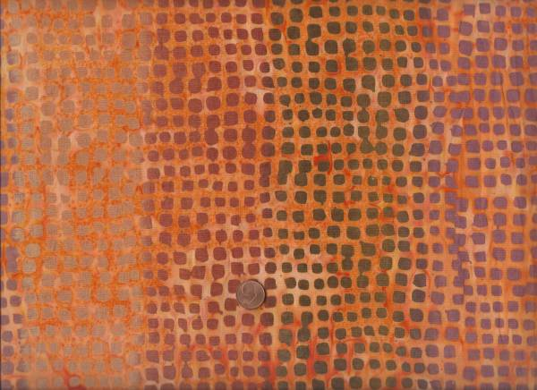 Batik orange-terracotta Quadrate