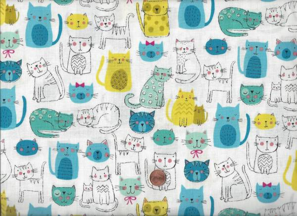 Kitty Cats turquoise