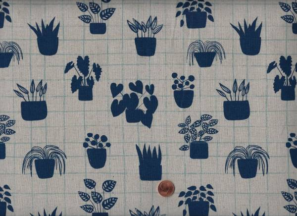 Sarah Golden Home Plants Linen 55%li/45%co