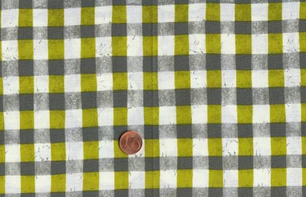 Malka Dubrawsky a stitch in color grün-weiß-grau Karo
