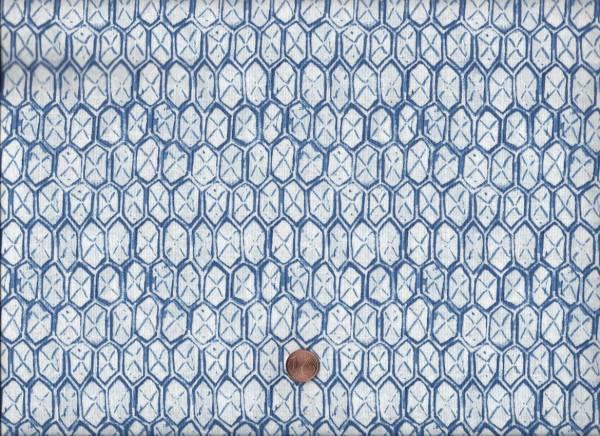 Ella weiß-blau Waben