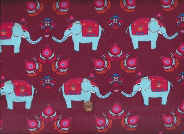 Jersey Elefanten w.rot-türkis