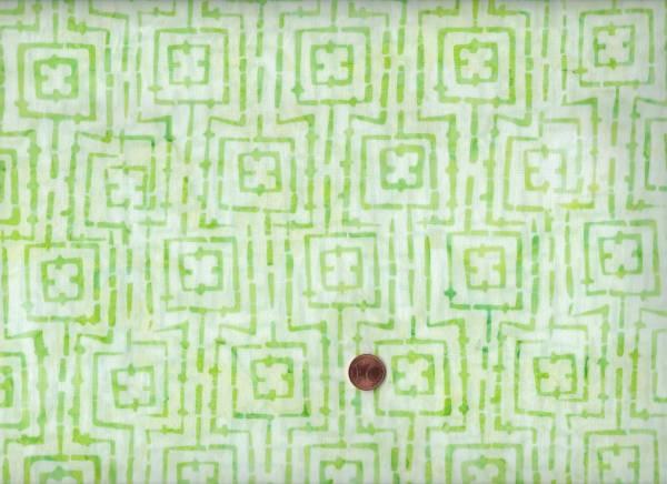 Batik Karo weiß-grün