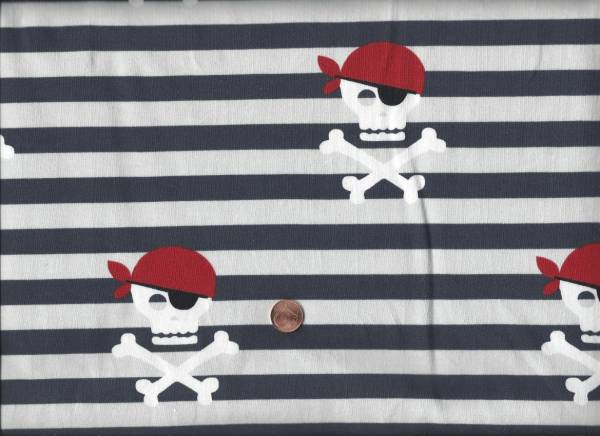 Jersey Piraten Streifen blau-weiß