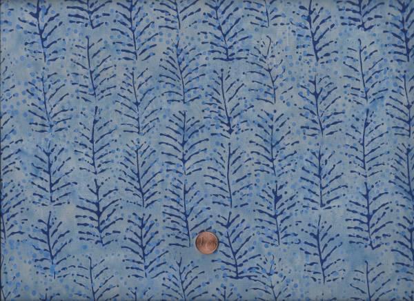 Batik Zweige h.blau-d.blau