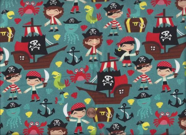Jersey Piraten petrol-bunt