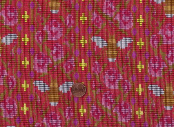 Alison Glass Handiwork Bead Work scarlet