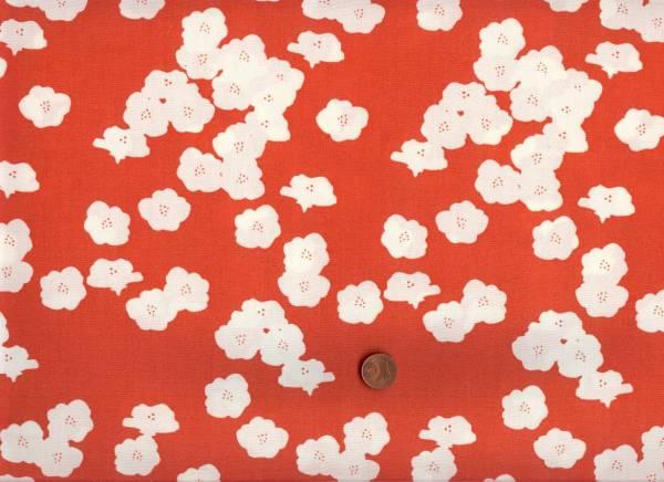 Bio-Baumwolle Poppies red