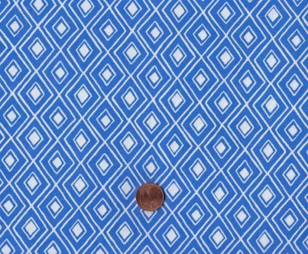 Modern Home Rauten weiß-blau