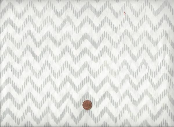 Batik weiß-grau Zacken