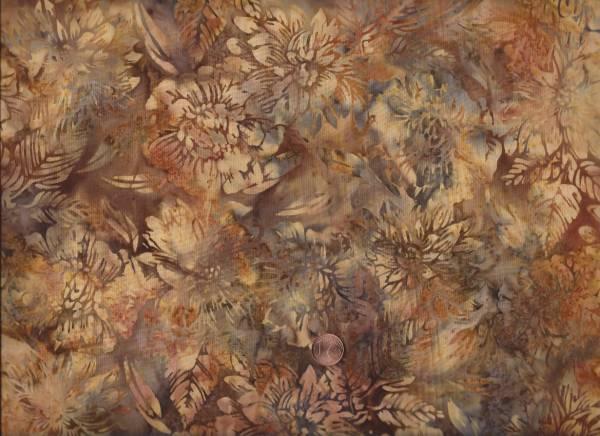 Batik floral braun-beige