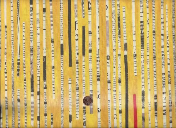 Collage Newspaper Stripe gelb
