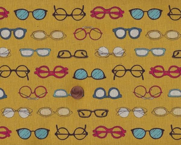 Brillen gelb 80%co/20%li