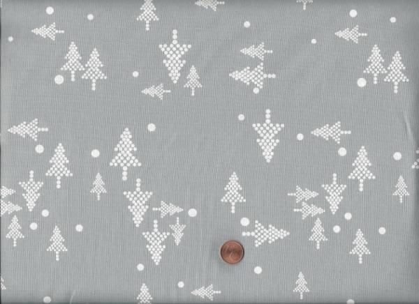 White Christmas Tree, gray