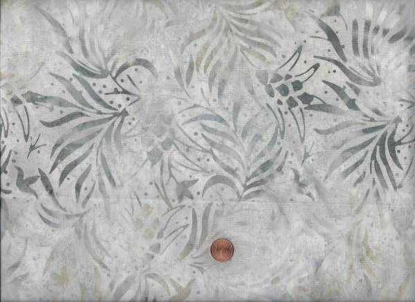 Batik Zweige grau-beige