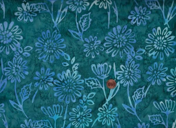 Batik Floral petrol