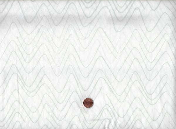 Batik Wellen weiß-grau
