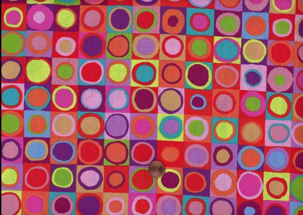 Kaffe Fassett Tiddlywinks gp171 red