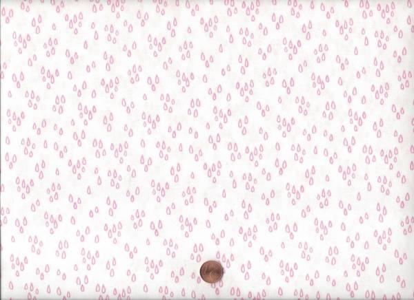 Notepad Tropfen weiß-rosa