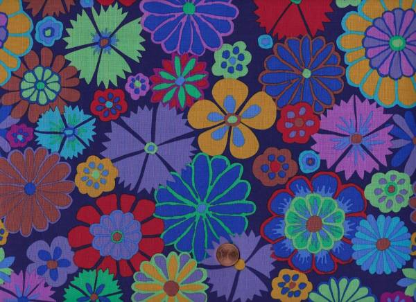 Kaffe Fassett Artisan Folk Flower kf07 purple