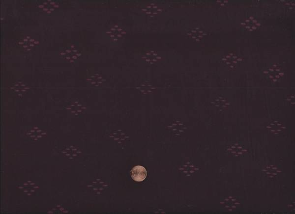 Batik Punkte-Karo aubergine