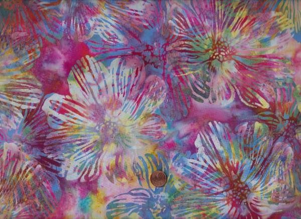 Batik Blumen bunt