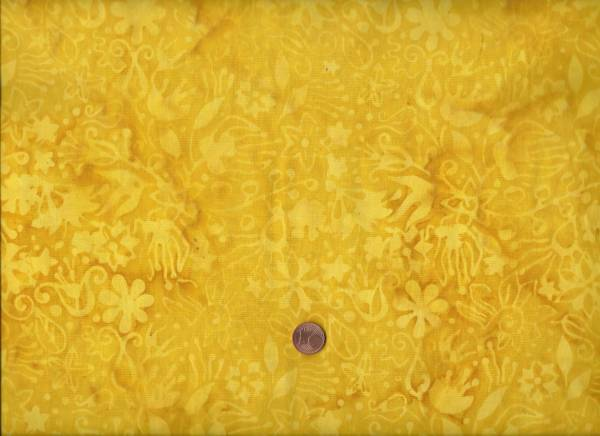 Batik gelb floral