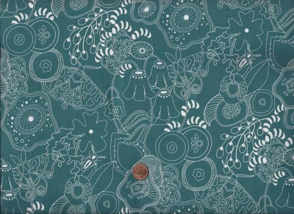 Alison Glass Sun Print Floral petrol