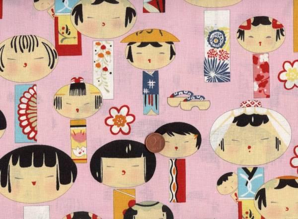 Yui Kokeshi Geishas pink