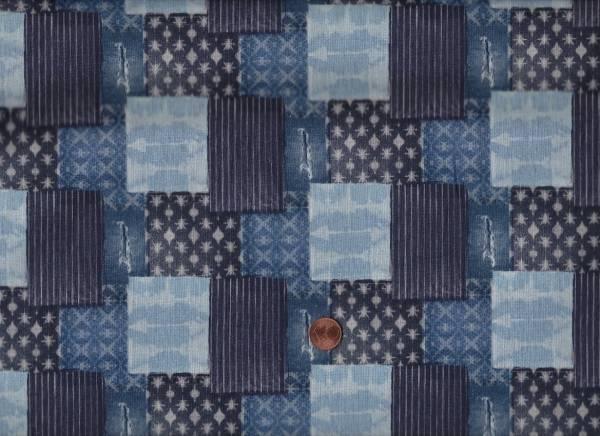 Shibori blau Patchwork