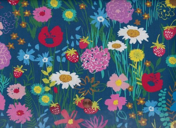 C. Manning Gro. Beautiful Blumen blau-bunt