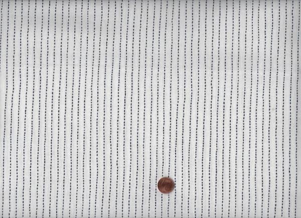 Sashiko Stitched Stripe ivory
