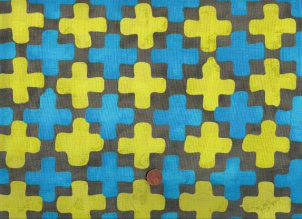 Malka Dubrawsky Simple Marks Fields taupe-türkis-kiwi