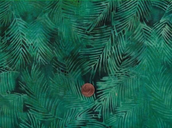 Batik Blätter grün