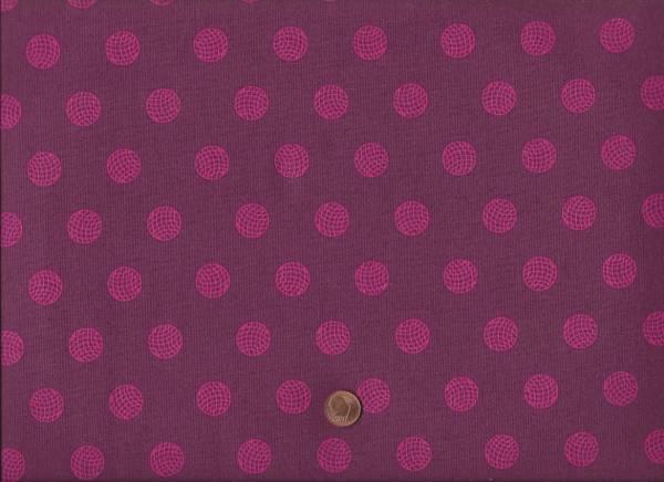 Alison Glass Sun Print Dots aubergine